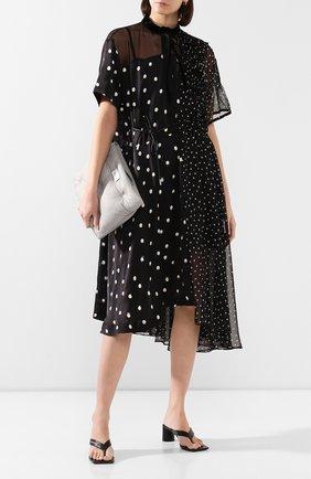 Женское платье в горох SACAI черного цвета, арт. 20-05060 | Фото 2