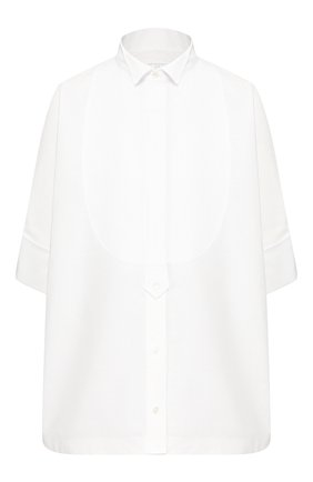 Женская хлопковая рубашка SACAI белого цвета, арт. 20-04821 | Фото 1