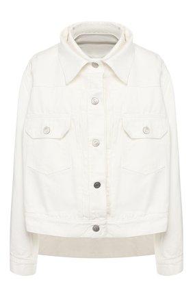 Женская джинсовая куртка SACAI белого цвета, арт. 20-04925 | Фото 1