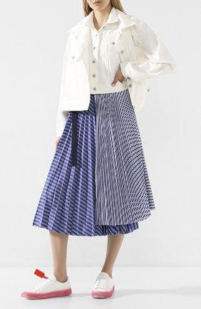 Женская джинсовая куртка SACAI белого цвета, арт. 20-04925 | Фото 2