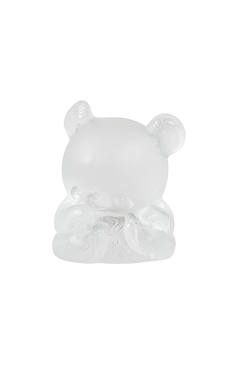 Мужского скульптура панда yang-yang LALIQUE прозрачного цвета, арт. 89010103 | Фото 1