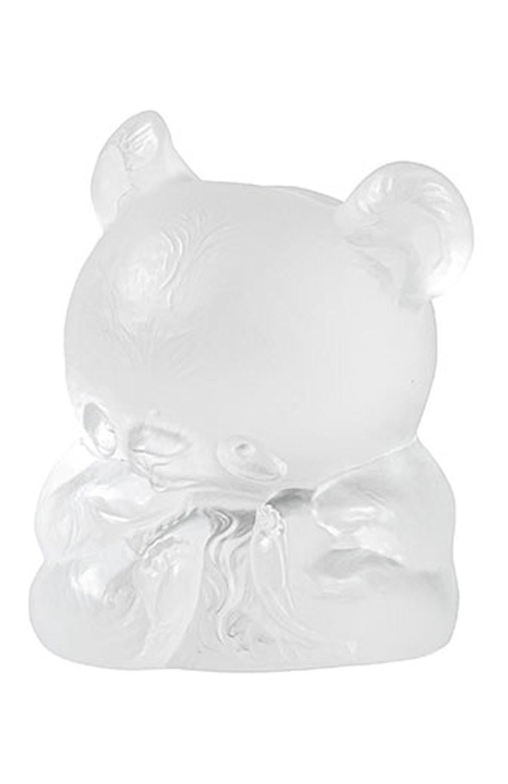 Мужского скульптура панда yang-yang LALIQUE прозрачного цвета, арт. 89010101 | Фото 1