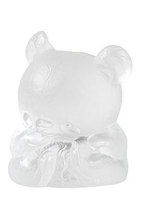 Мужская скульптура панда yang-yang LALIQUE прозрачного цвета, арт. 89010101 | Фото 1