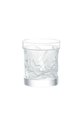 Мужской стакан для виски swallows LALIQUE прозрачного цвета, арт. 1345700 | Фото 1