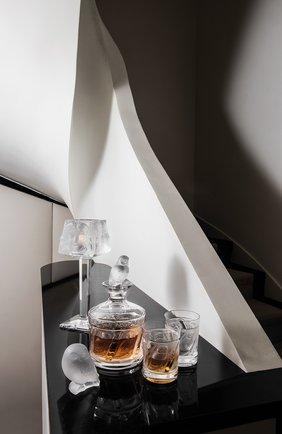 Мужской стакан для виски swallows LALIQUE прозрачного цвета, арт. 1345700 | Фото 2