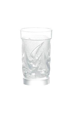Мужского стакан для сока hirondelles LALIQUE прозрачного цвета, арт. 1345600 | Фото 1
