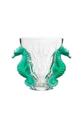 Мужская ваза poseidon LALIQUE зеленого цвета, арт. 10685000 | Фото 1