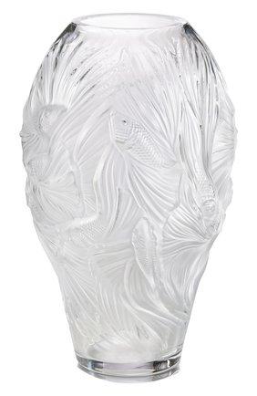 Мужская ваза poissons combattants  LALIQUE прозрачного цвета, арт. 10672100 | Фото 1