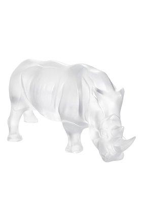Мужская скульптура носорог LALIQUE прозрачного цвета, арт. 10600300 | Фото 1