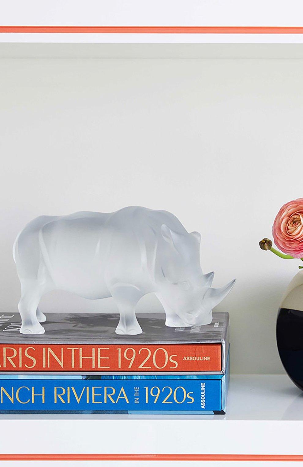 Мужского скульптура носорог LALIQUE прозрачного цвета, арт. 10600300   Фото 2