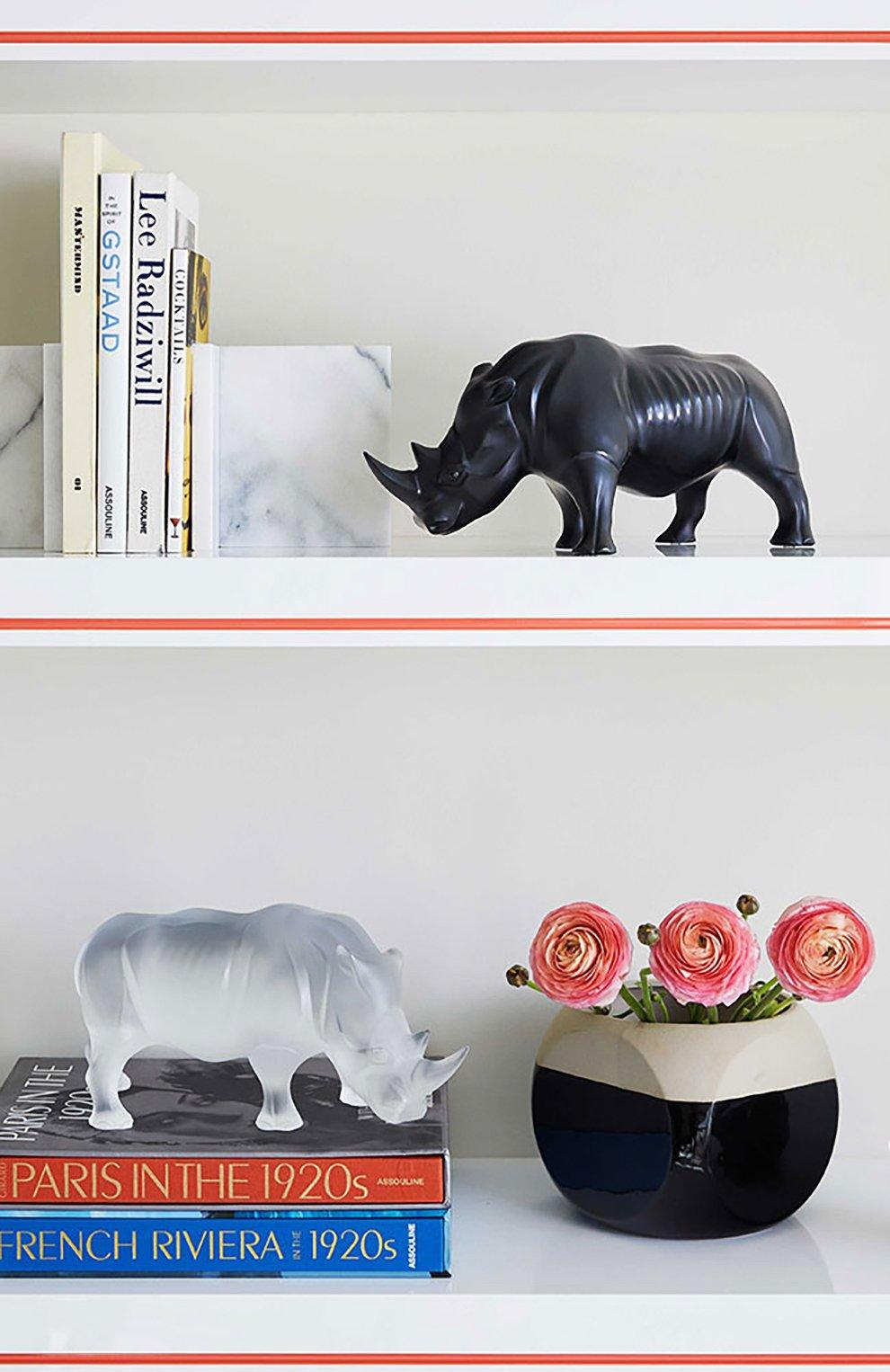 Мужского скульптура носорог LALIQUE прозрачного цвета, арт. 10600300   Фото 3