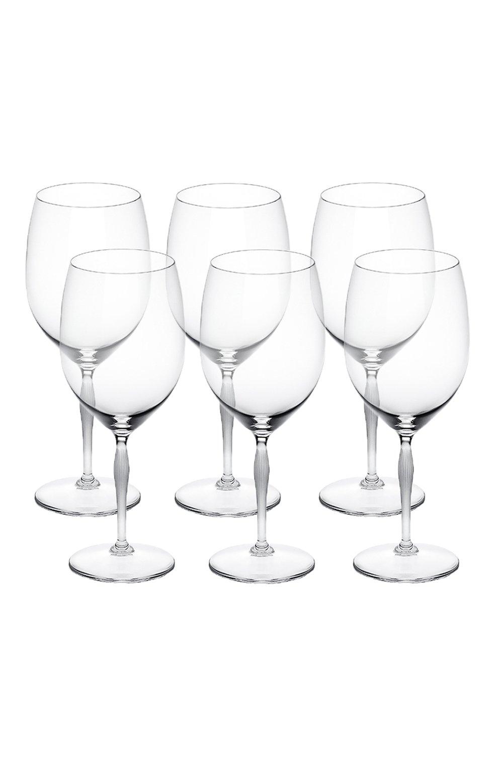 Мужского набор из 6-ти бокалов для вина bordeaux 100 points LALIQUE прозрачного цвета, арт. 10332300   Фото 1