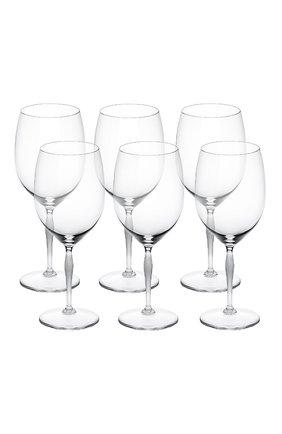 Мужского набор из 6-ти бокалов для вина bordeaux 100 points LALIQUE прозрачного цвета, арт. 10332300 | Фото 1