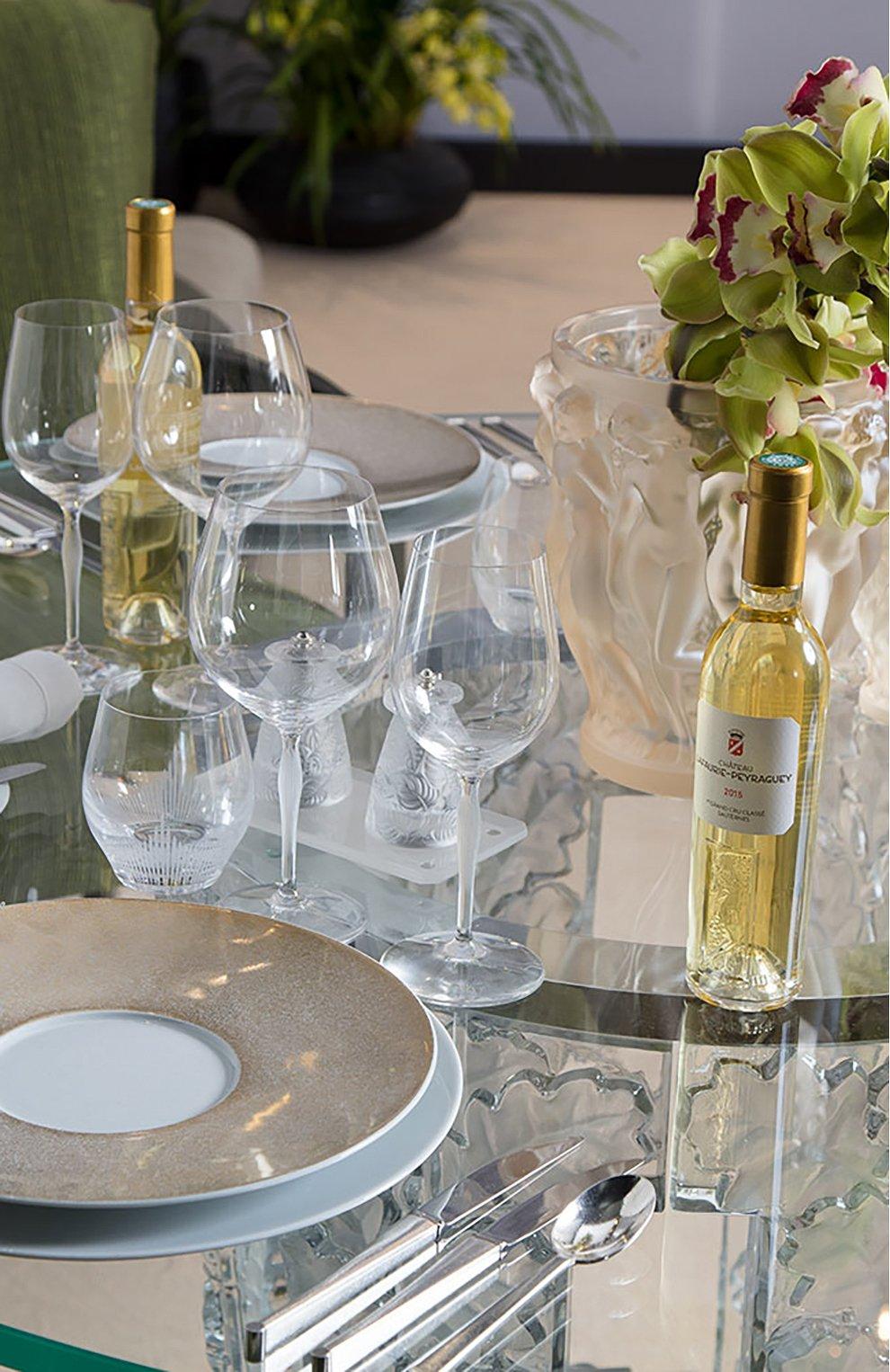 Мужского набор из 6-ти бокалов для вина bordeaux 100 points LALIQUE прозрачного цвета, арт. 10332300   Фото 3