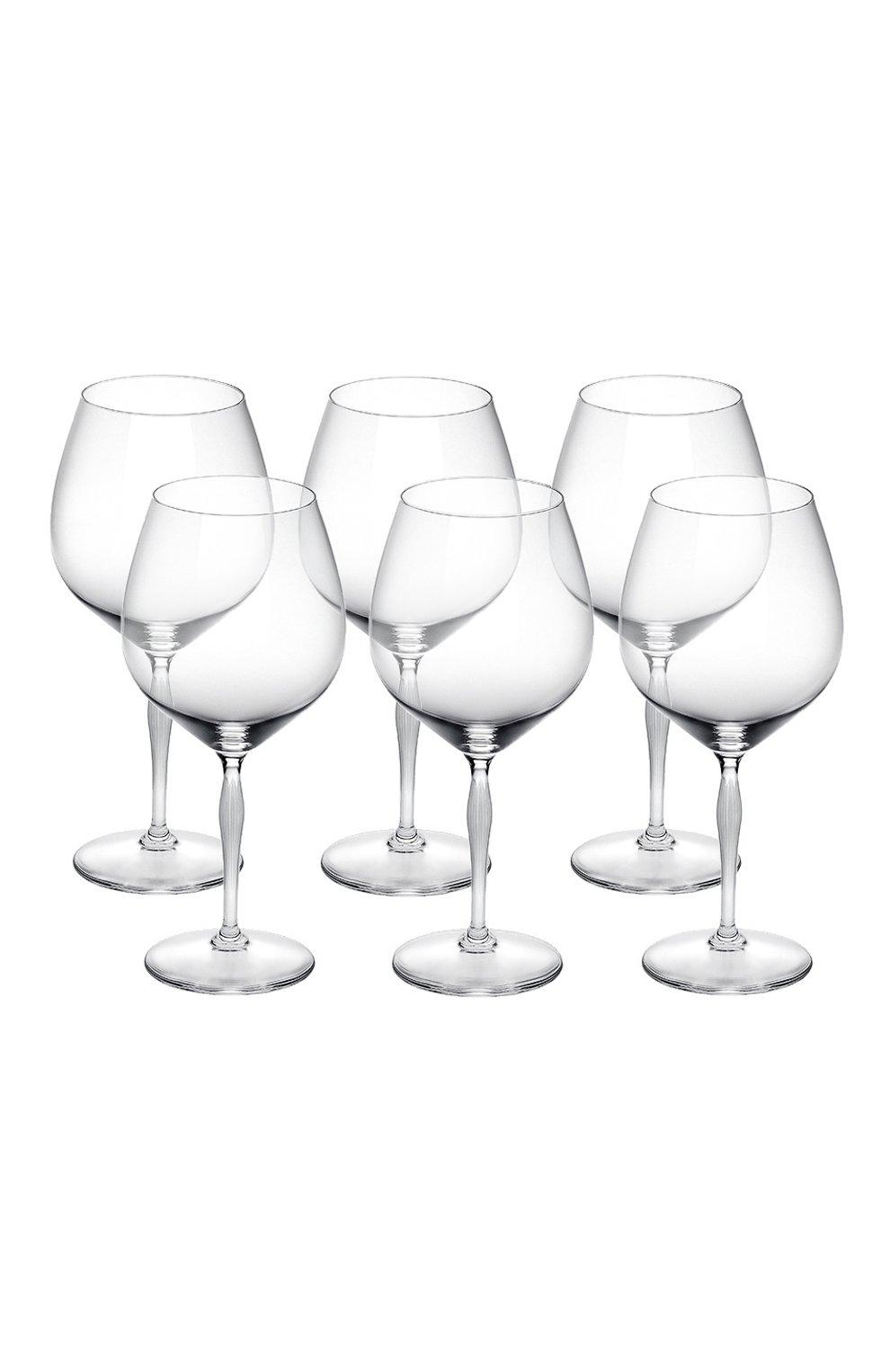 Мужского набор из 6-ти бокалов для вина burgundy 100 points LALIQUE прозрачного цвета, арт. 10332000   Фото 1