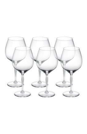 Мужского набор из 6-ти бокалов для вина burgundy 100 points LALIQUE прозрачного цвета, арт. 10332000 | Фото 1