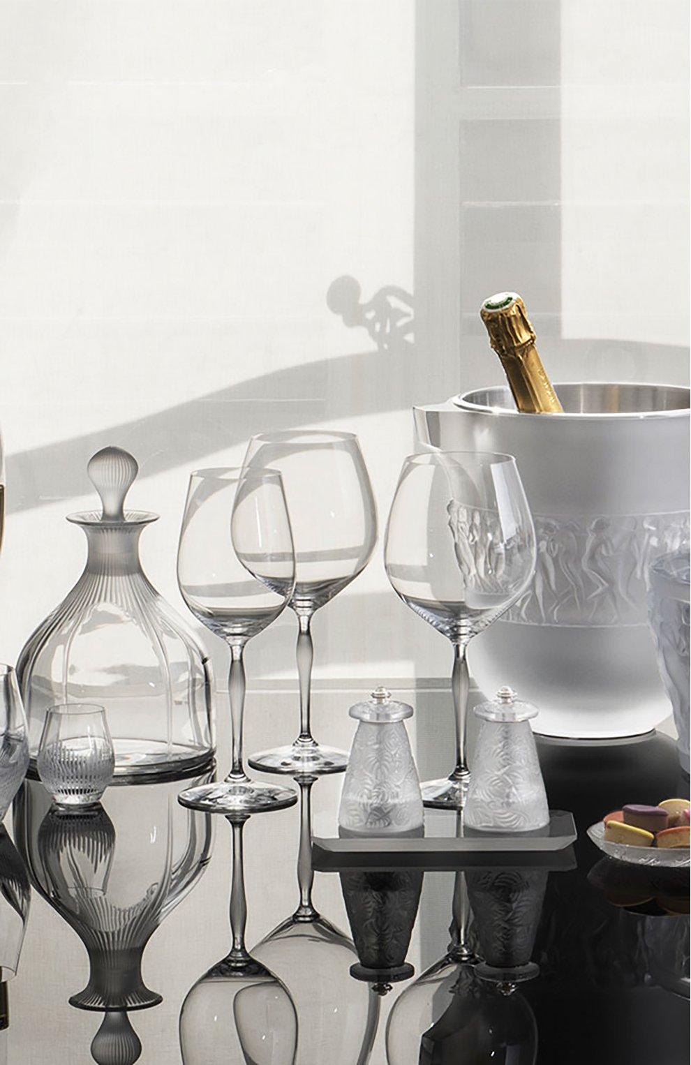 Мужского набор из 6-ти бокалов для вина burgundy 100 points LALIQUE прозрачного цвета, арт. 10332000   Фото 2
