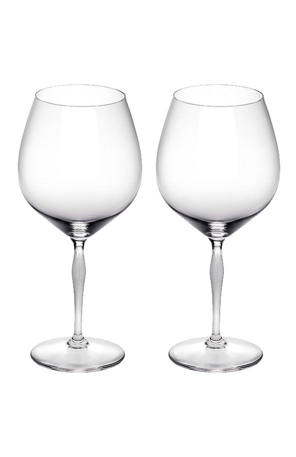 Мужского набор из 2-х бокалов для вина burgundy 100 points LALIQUE прозрачного цвета, арт. 10331900 | Фото 1