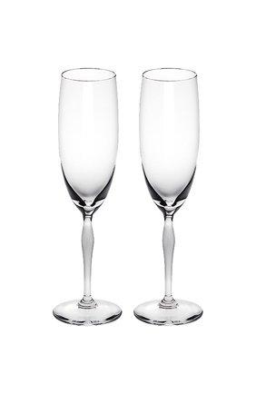 Мужского набор из 2-х фужеров для шампанского 100 points LALIQUE прозрачного цвета, арт. 10331300 | Фото 1
