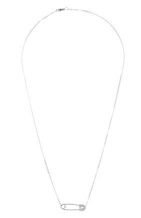 Женское колье J-POINT серебряного цвета, арт. ИПГ857.2.220120.1W   Фото 1