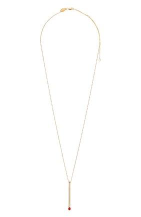 Женское колье J-POINT золотого цвета, арт. СП857.6.010220.10Y   Фото 1