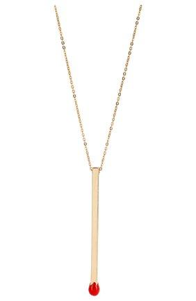 Женское колье J-POINT золотого цвета, арт. СП857.6.010220.10Y   Фото 2