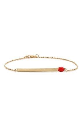 Женская браслет J-POINT золотого цвета, арт. СП857.9.070220.28Y   Фото 1