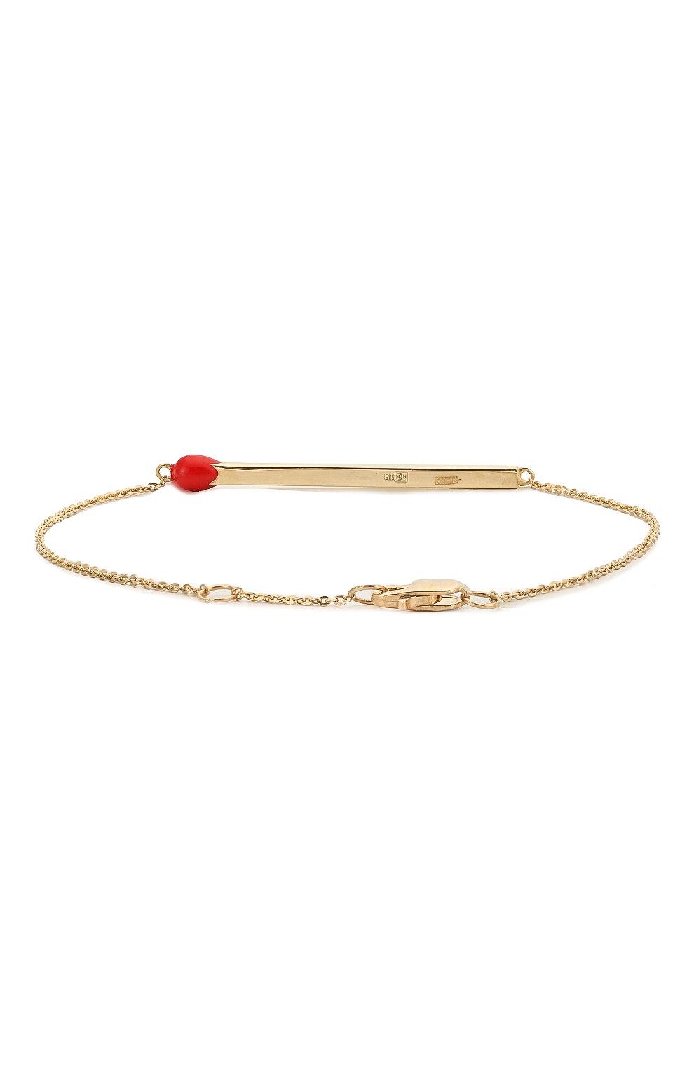 Женский браслет J-POINT золотого цвета, арт. СП857.9.070220.28Y   Фото 2 (Материал: Золото)