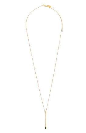 Женское колье J-POINT золотого цвета, арт. СП857.8.060220.21Y | Фото 1 (Материал: Золото)