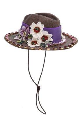 Женская шляпа DOLCE & GABBANA сиреневого цвета, арт. FH495Z/GDU29   Фото 1