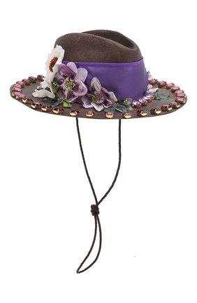 Женская шляпа DOLCE & GABBANA сиреневого цвета, арт. FH495Z/GDU29   Фото 2