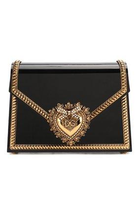 Женская сумка devotion small DOLCE & GABBANA черного цвета, арт. BB6713/AZ700 | Фото 1