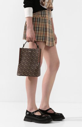 Женская сумка bucket BURBERRY коричневого цвета, арт. 8026825 | Фото 2