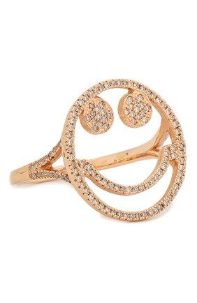 Женское кольцо J-POINT золотого цвета, арт. Sm857.1.7P | Фото 1 (Материал: Золото)