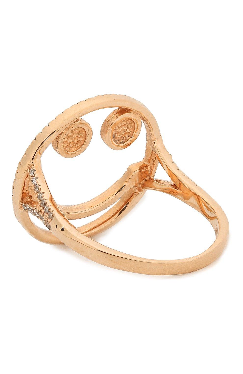 Женское кольцо J-POINT золотого цвета, арт. Sm857.1.7P | Фото 2 (Материал: Золото)