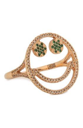 Женское кольцо J-POINT золотого цвета, арт. Sm857.6.6P   Фото 1