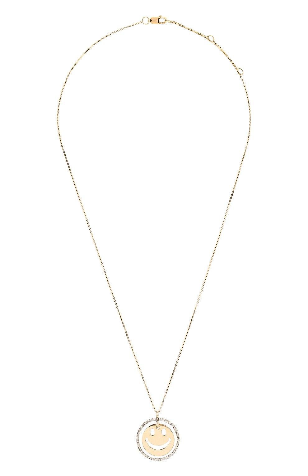 Женская колье J-POINT золотого цвета, арт. ИПГ857.29.290818.7Y | Фото 1 (Материал: Золото)