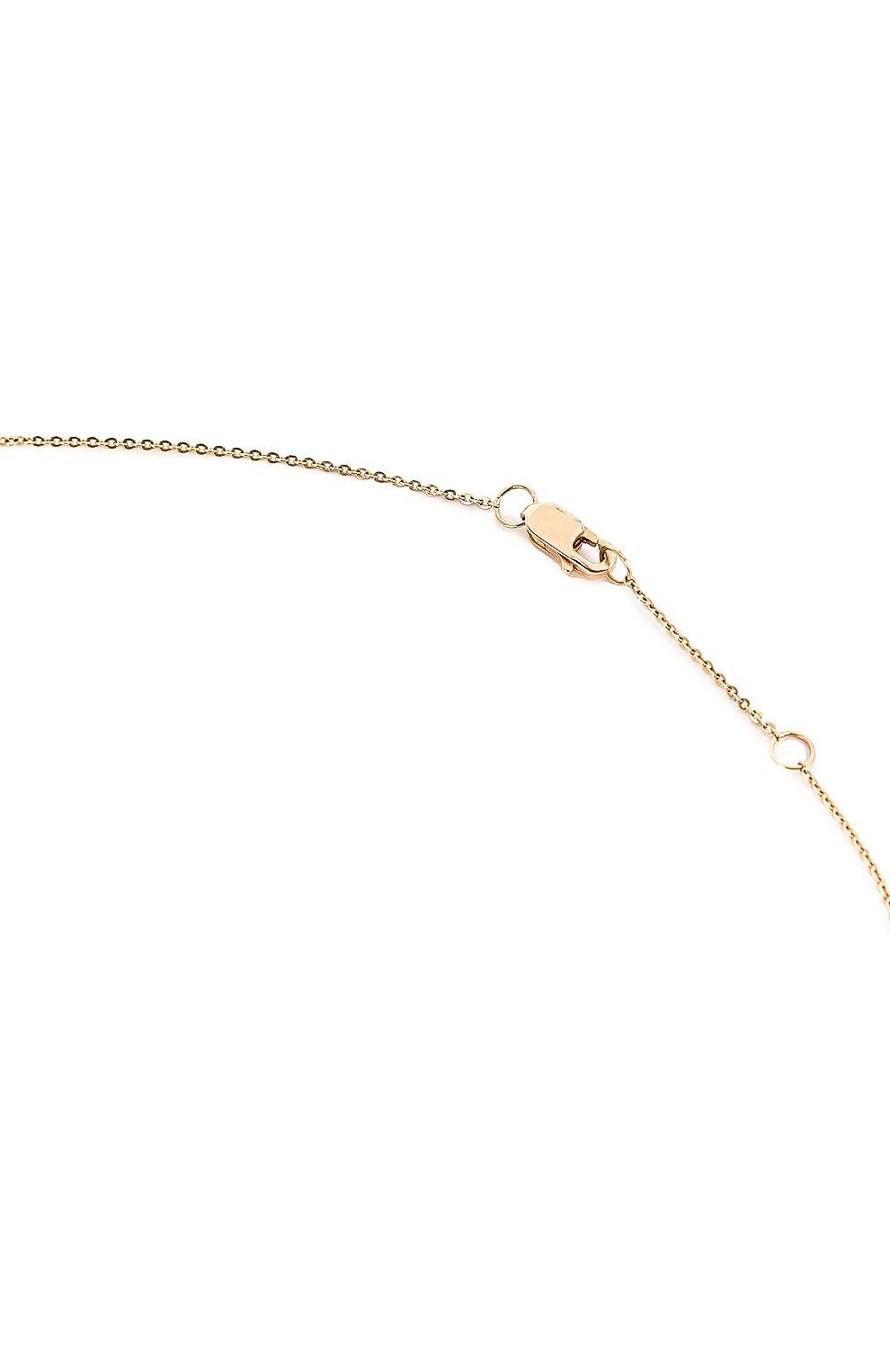 Женская колье J-POINT золотого цвета, арт. ИПГ857.29.290818.7Y | Фото 3 (Материал: Золото)