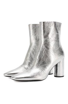 Женские кожаные ботильоны oval BALENCIAGA серебряного цвета, арт. 591015/WA970 | Фото 1