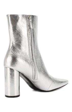 Женские кожаные ботильоны oval BALENCIAGA серебряного цвета, арт. 591015/WA970 | Фото 4