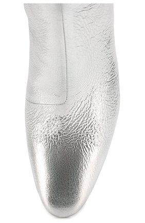 Женские кожаные ботильоны oval BALENCIAGA серебряного цвета, арт. 591015/WA970 | Фото 5