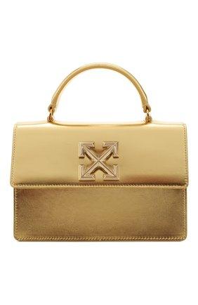 Женская сумка 1.4 jitney OFF-WHITE золотого цвета, арт. 0WNA092S20LEA0037600 | Фото 1