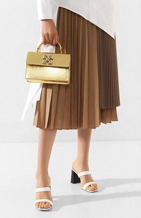 Женская сумка 1.4 jitney OFF-WHITE золотого цвета, арт. 0WNA092S20LEA0037600 | Фото 2