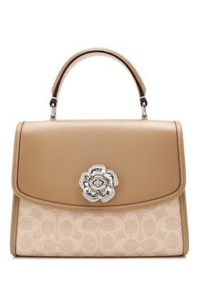 Женская сумка COACH бежевого цвета, арт. 89121 | Фото 1