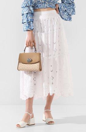 Женская сумка COACH бежевого цвета, арт. 89121 | Фото 2
