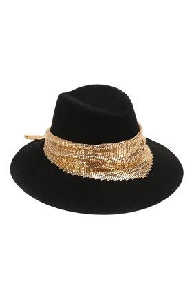 Женская фетровая шляпа party felt MAISON MICHEL черного цвета, арт. 1009050001/PARTY FELT   Фото 1