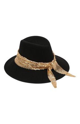 Женская фетровая шляпа party felt MAISON MICHEL черного цвета, арт. 1009050001/PARTY FELT   Фото 2