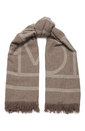 Женская шаль из смеси шерсти и кашемира TOTÊME коричневого цвета, арт. C0M0 193-854-802 | Фото 1