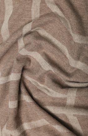 Женская шаль из смеси шерсти и кашемира TOTÊME коричневого цвета, арт. C0M0 193-854-802 | Фото 2