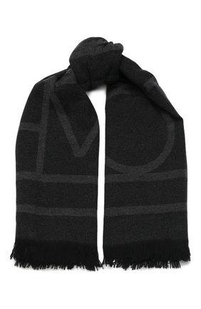 Мужские шарф из смеси шерсти и кашемира TOTÊME темно-серого цвета, арт. C0M0 194-854-802   Фото 1